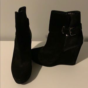 Stuart Weitzman Black Wedge Boot